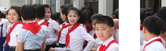 实拍清纯美丽朝鲜校园女生(图)